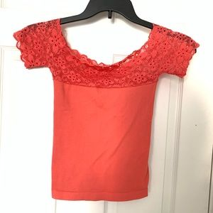 Tops - Pink Lace Top One Size Fits All